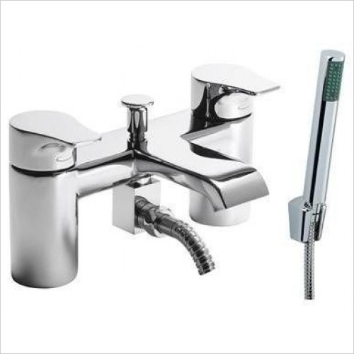 Tavistock - Blaze Deck Mounted Bath Shower Mixer With Handset