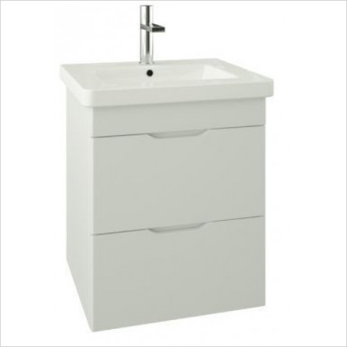 Saneux - Indigo 2-Drawer Wall Mounted Unit For 500mm Basin