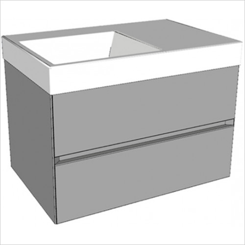 Catalano - Zero 75 2 Drawer Unit LH Glass Finish