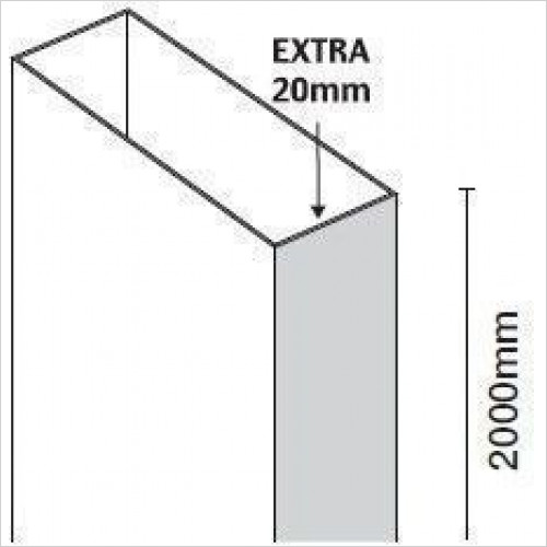 Merlyn - 10 Series Extension Profile For Pivot 20mm
