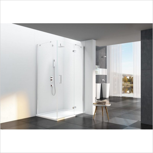 Merlyn - 6 Series Frameless Hinge & Inline With Side Panel Incl Tray