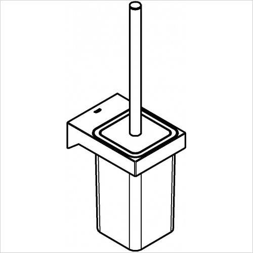 Grohe - Selection Cube Toilet Brush Set