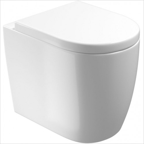 Saneux - Uni Back To Wall Pan - Rimless