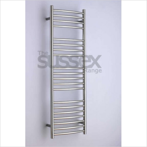 JIS Sussex - Adur Electric Curved Fronted Towel Rail 1250x400mm