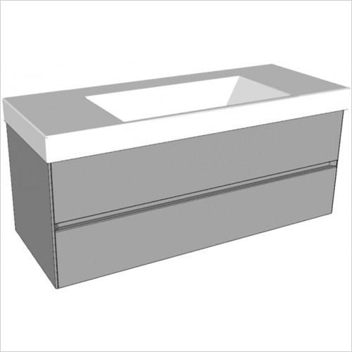 Catalano - Zero 125 2 Drawer Unit Glass Finish