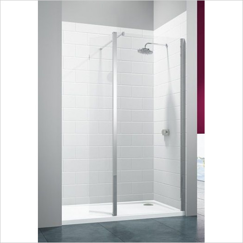 Merlyn - 8 Series Showerwall With Hinged Swivel Panel 1250mm