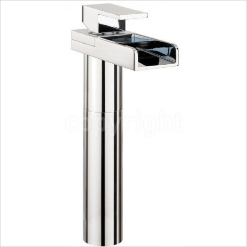 Crosswater - Water Square Basin Tall Monobloc With Lights