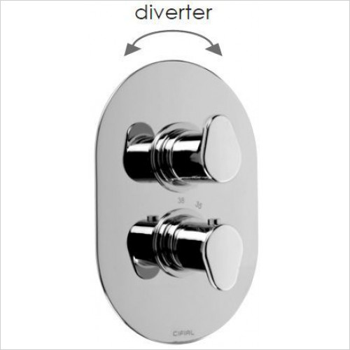 Cifial - Viva 2 Control Thermostatic Valve & Diverter
