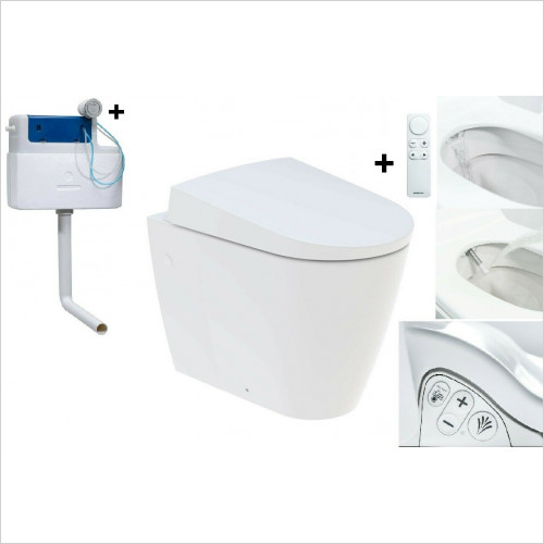 Geberit Aquaclean - Sela Back To Wall BTW Shower Bidet Toilet WC Soft Close Seat