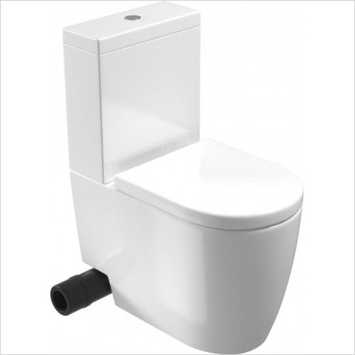 Saneux - Uni WC Pan - Close Coupled, Fully BTW, Rimless LH Cut-Out On