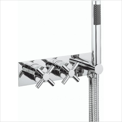 Crosswater - Totti II Thermostatic Shower Valve 2 Control (Landscape)