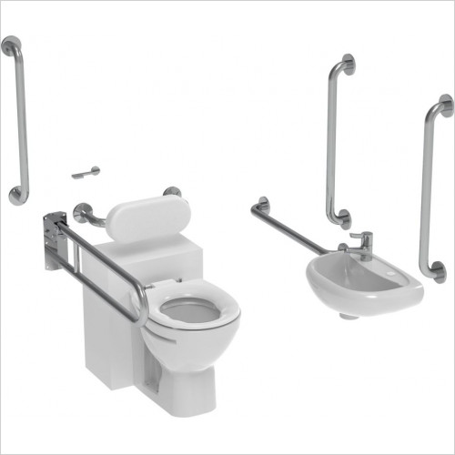 Saneux - Care Back To Wall Doc M Pack-Concealed Fixings