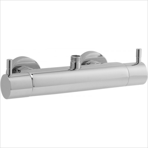 Hudson Reed - TMV2 Minimalist Thermostatic Bar Valve, Top/Bottom Outlet