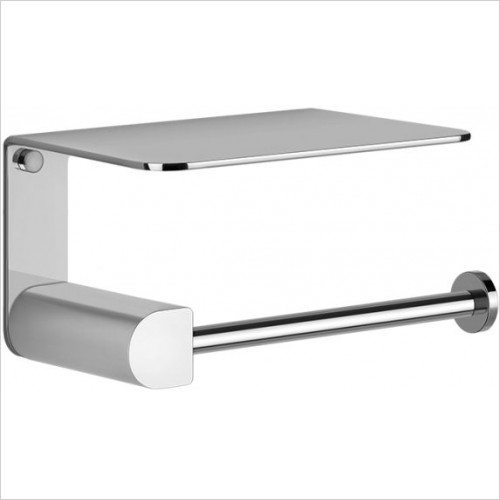 Gessi - Rilievo Wall-Mounted Paper Roll Holder With Cover