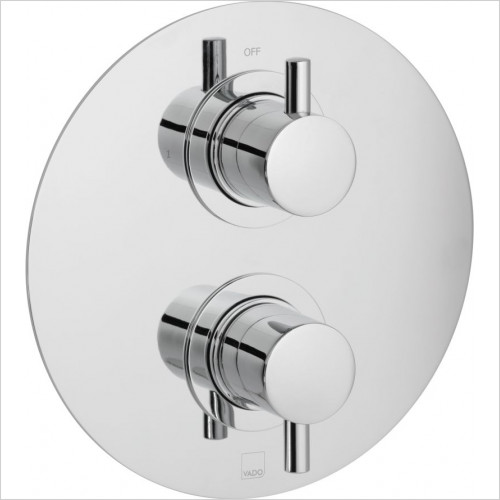 Celsius Round 1 Outlet 2 Handle Concealed Thermostatic
