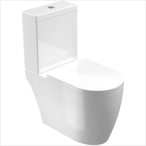 Saneux - Uni WC Pan - Close Coupled, Open Back, Rimless Only
