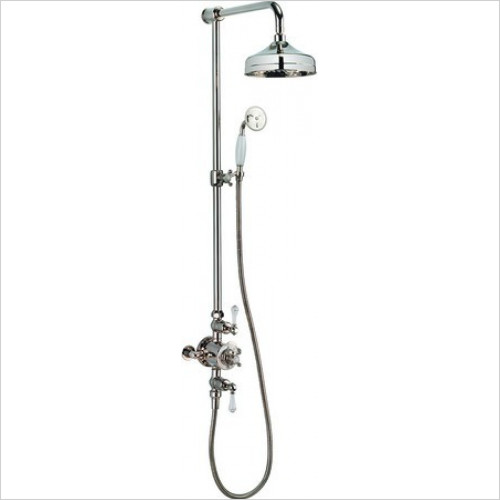 Crosswater - Belgravia Thermostatic Shower Valve With 8'' Fixed Head
