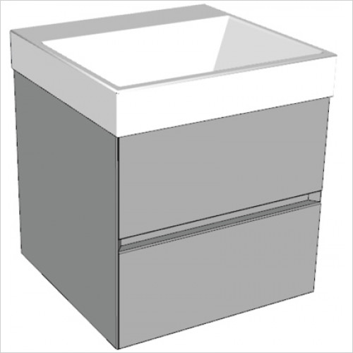 Catalano - Zero 50 2 Drawer Unit Glass Finish