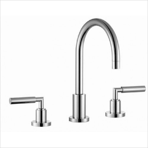 Tempus 3 Hole Basin Mixer With Pop-Up Waste