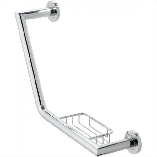 Vado - Spa Angled Grab Rail With Basket 456mm (18'')