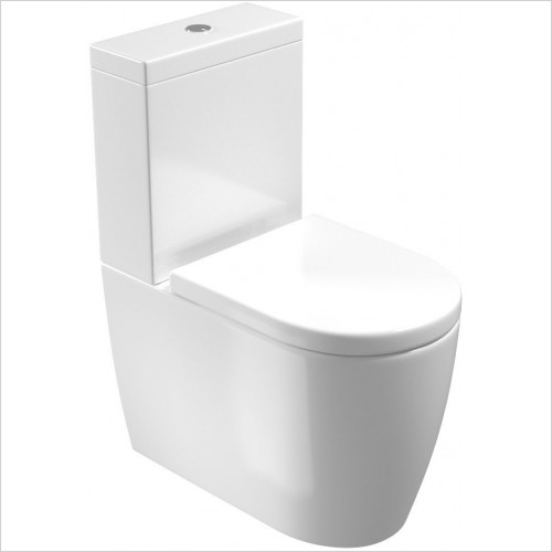 Saneux - Uni WC Pan - Close Coupled, Fully Back To Wall, Rimless Only
