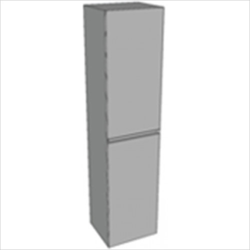 Catalano - Zero Tall Unit 2 Door Glass Finsh 165x40x35cm