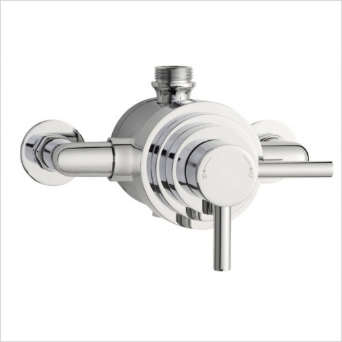 Hudson Reed - Tec Dual Exposed Thermostatic Shower Valve