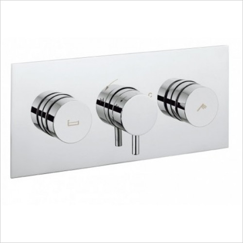 Crosswater - Dial Bath Valve 2 Control With Kai Lever Trim