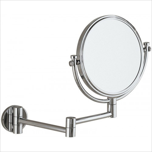 Bathroom Origins - Gedy Reversible 2x Magnifying Wall Mirror