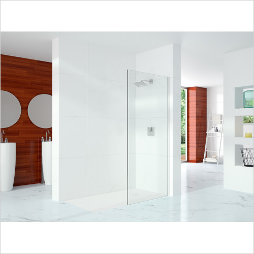 Merlyn - 10 Series Showerwall Incl Wall Profile & Str. Stab. Bar 1000