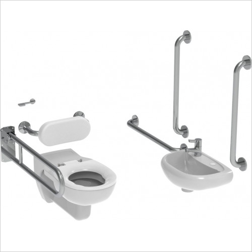 Saneux - Care Wall Hung Doc M Pack-Concealed Fixings