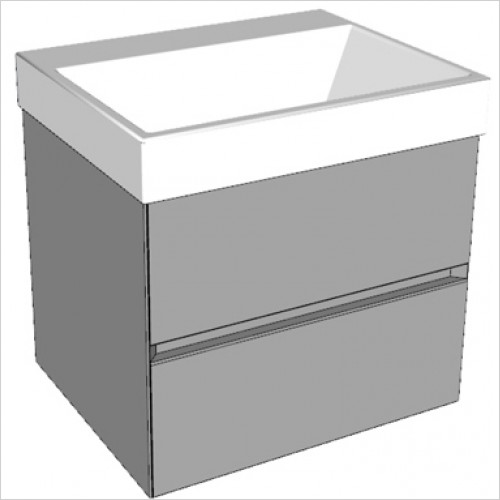 Catalano - Zero 60 2 Drawer Unit Glass Finish