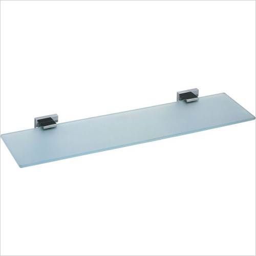 Vado - Level Frosted Glass Shelf 530mm (21'') Wall Mounted