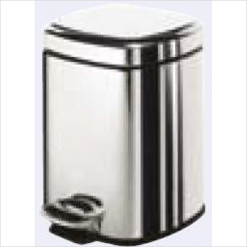 Bathroom Origins - Gedy Complements Square Pedal Bin 3 Litre Soft Close
