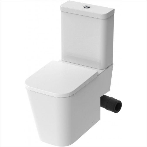 Saneux - Matteo Close Coupled WC Pan Rimless - RH Soil Exit Only