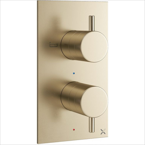 Crosswater - MPRO Thermostatic Valve With Divertor - Portrait