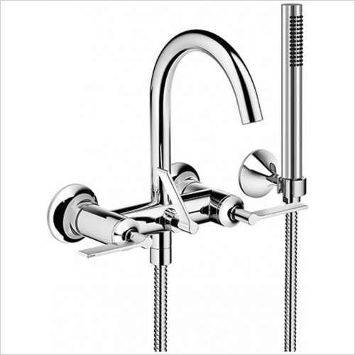 Dornbracht - Vaia Bath Mixer For Wall Mounting With Hand Shower Set