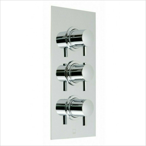 Vado - Celsius 2 Outlet Thermostatic Shower Set 3 Handle Package