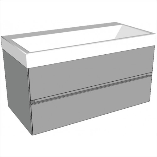 Catalano - Zero 100 2 Drawer Unit Glass Finish