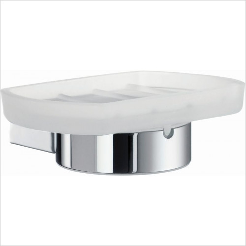 Smedbo - Air Holder With Frosted Glass Soap Dish