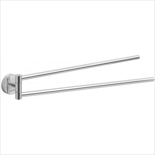 Bathroom Origins - Gedy Eros Double Swing Towel Rail