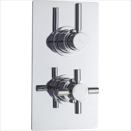 Hudson Reed - Tec Pura Twin Thermostatic Shower Valve With Diverter