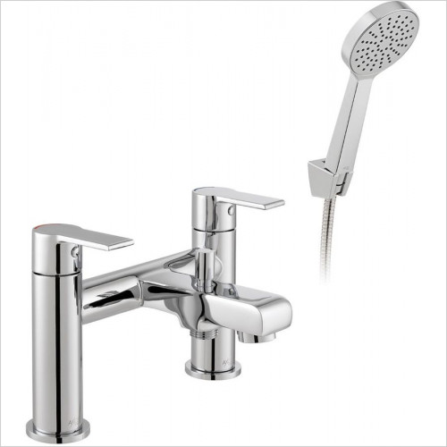 Vado - Irlo Deck Mounted Bath Shower Mixer + Shower Kit