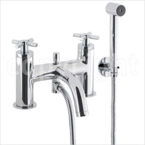 Crosswater - Totti II Bath Shower Mixer Wth Kit, Deck Mounted