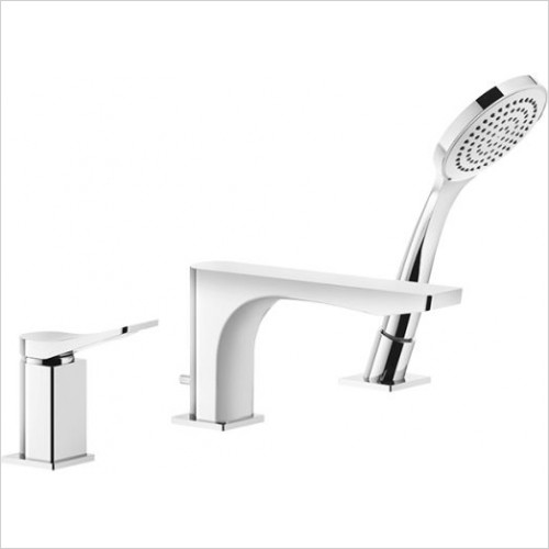 Gessi - Rilievo Three-Holes Bath Mixer With Diverter In The Spout