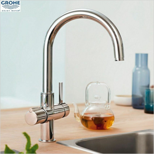 Grohe - Red Duo Kitchen Sink Mixer Hot Tap C Spout Single Boiler 4