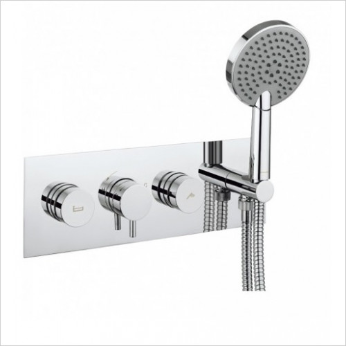 Crosswater - Dial Thermostatic Valve 2 Control With Kai Lever Trim