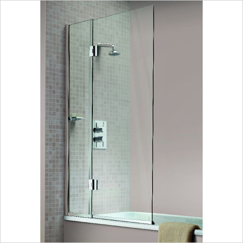 Matki - Hinged Bath Screen 900mm RH GG