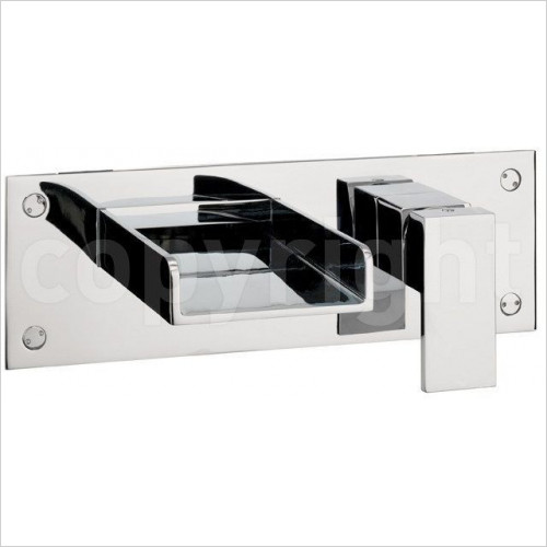 Crosswater - Water Square Bath 2 Hole Filler, Wall Mounted