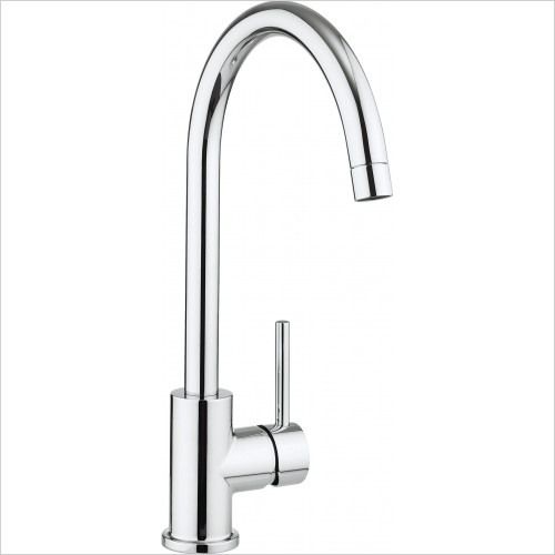 Crosswater - Tropic Side Lever Kitchen Mixer With Concealed Spray Head